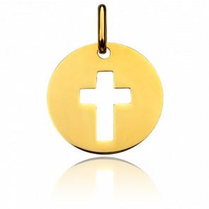 Médaille de la Sainte Croix Ajourée Or Jaune 18K