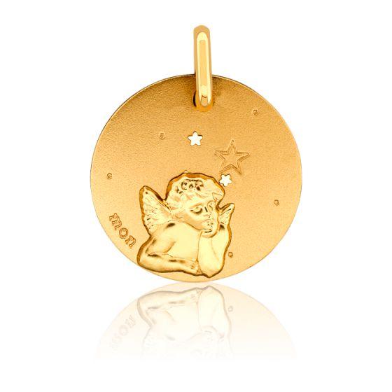 Médaille Mon Ange Aux Etoiles Or Jaune 18K