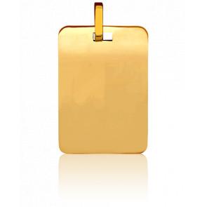 Médaille Plaque Dorée Or Jaune 18K