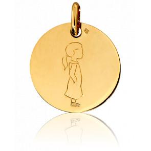 Médaille Mon Enfant Chéri Fille Or Jaune 18K