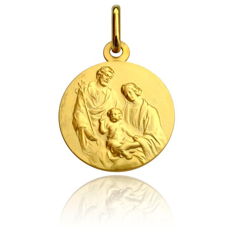 Médaille Sainte Famille Or Jaune 18K