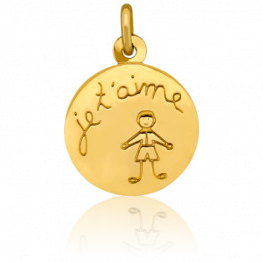 Médaille Je t'aime Or Jaune 18K