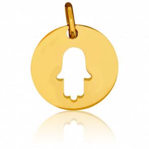 Médaille Main de Fatma Ajourée Or Jaune 18K