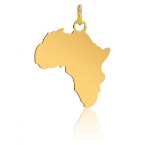 Pendentif Afrique 17 x 19 mm Or Jaune 18K