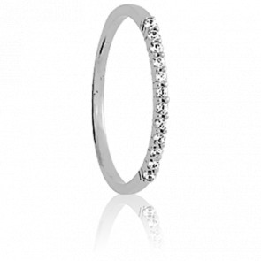 Alliance Rieuse Or Blanc & Diamants 0,26 ct GP1