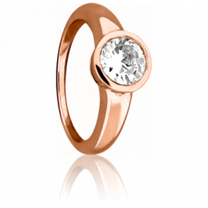 Bague Elégance Or Rose & Diamant 0,30ct
