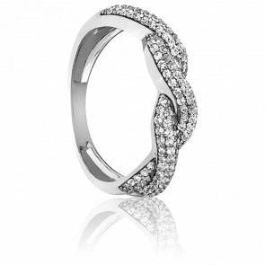 Bague Sabarmati Or Blanc et Diamants 18k