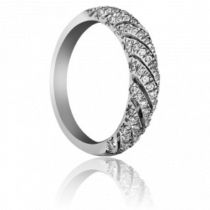 Bague Ulhas Or Blanc et Diamants 9k