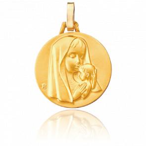 Médaille Maternité Moderne Or Jaune 18K