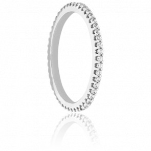 Alliance Rhin or blanc 18K & Diamants 0,31 ct H/SI1