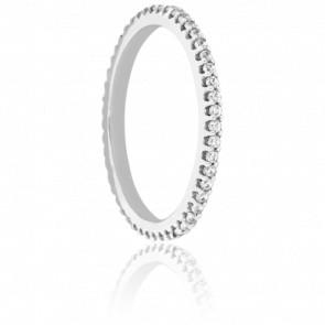 Alliance Rhin or blanc 18K & Diamants 0,31 ct H/P1