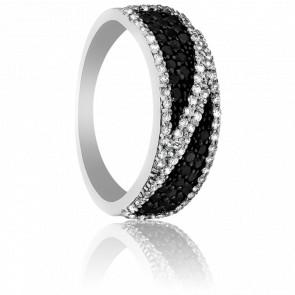 Bague Gangtok Or Blanc et Duo de Diamants 18k