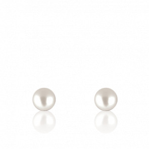 Puces d'oreilles perle d'Akoya, or blanc ou jaune 18K
