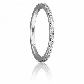 Alliance Bianca Or Blanc et Diamants G/SI2 0,50ct
