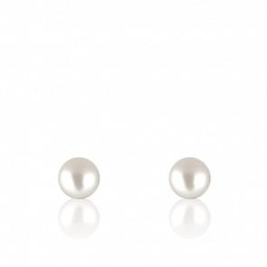 Puces d'oreilles perles d'Akoya, or jaune ou blanc 18 carats
