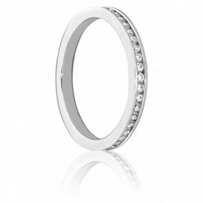 Alliance Sanaga or blanc 18K & Diamants H/SI1