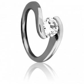 Bague Apesanteur Diamantée Blanche 0,50ct