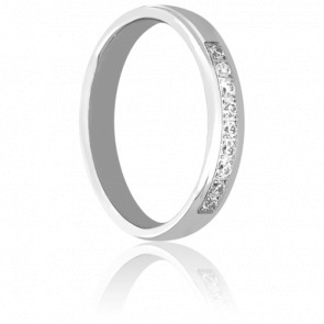 Alliance Ienisseï en Or blanc & Diamants 0.15 ct