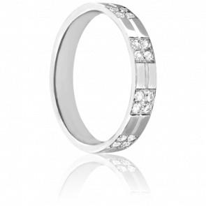 Alliance Oder en Or blanc & Diamants