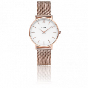 Minuit Mesh Rose Gold White CL30013