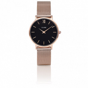 Minuit Mesh Rose Gold Black CL30016