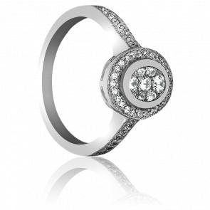 Bague Abu Or Blanc et Diamants 9k