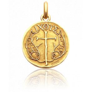 Médaille Poissons Or Jaune 18K