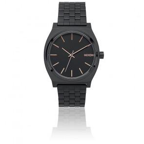 The Time Teller All Black / Rose Gold A045-957
