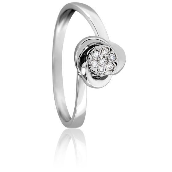 Bague Sublime Diamant & Or Blanc 18K