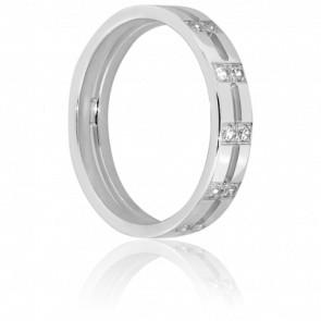 Alliance Adda en Or blanc & Diamants