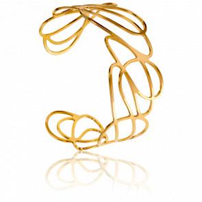 Bracelet Manchette Laïla Plaqué Or Jaune
