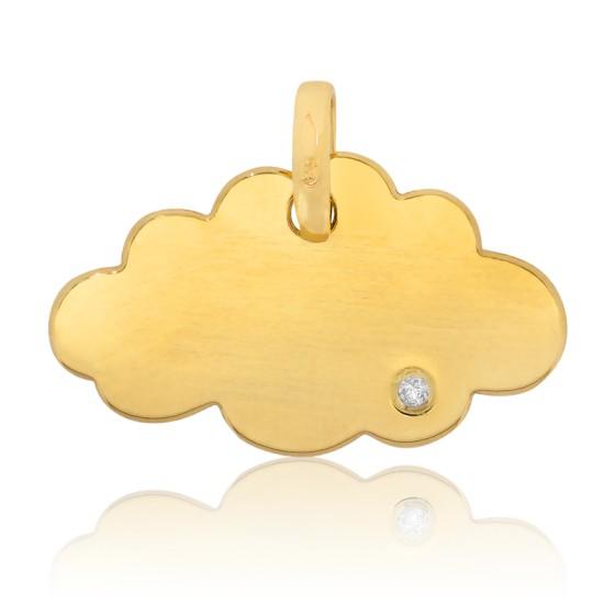 Pendentif Little Cloud Or Jaune et Diamant