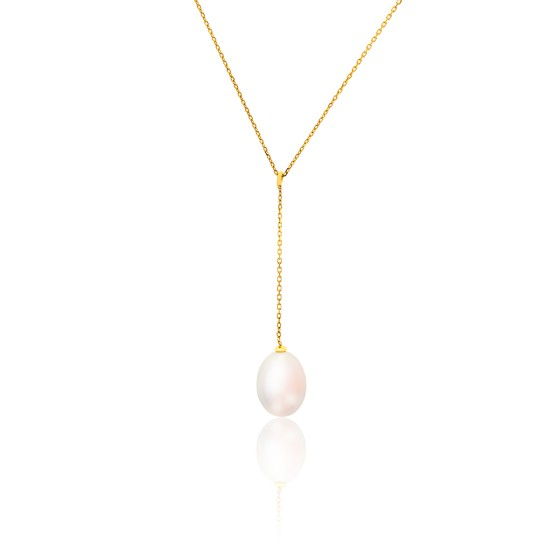 Collier perle de culture blanche or jaune porchet ocarat - Reduction blanche porte frais de port gratuit ...