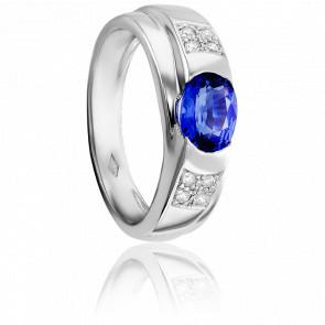 Bague Lovina, Saphir Ceylan & Diamants