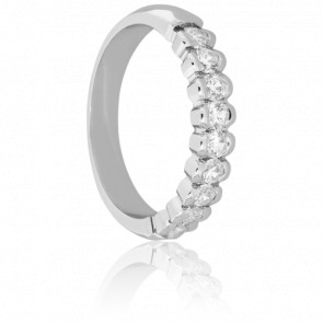 Alliance Krishna Or blanc & Diamants, 0,54 ct