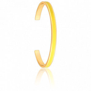 Bracelet Jonc Bangle Jaune Anis Plaqué Or Jaune
