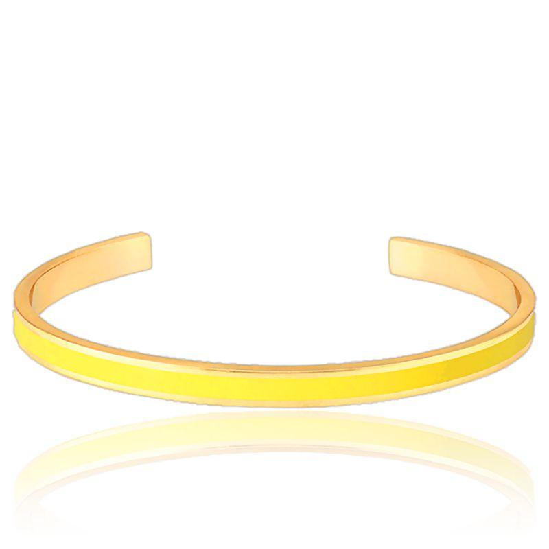 bracelet jonc bangle jaune anis or bangle up ocarat. Black Bedroom Furniture Sets. Home Design Ideas