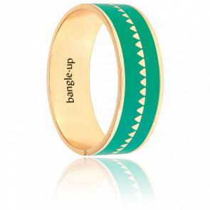 Bracelet Bollystud Ornementé Vert Menthe Plaqué Or Jaune