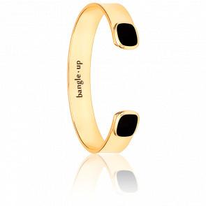 Bracelet Jonc Salomé Noir Plaqué Or Jaune