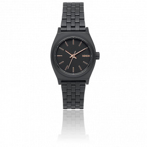 Montre The Small Time Teller All Black/Rose Gold A399-957