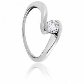 Bague Apesanteur Diamantée Blanche 0,30ct