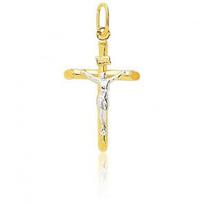 Christ en Croix Moderne 18 x 30 mm 2 Ors 18K