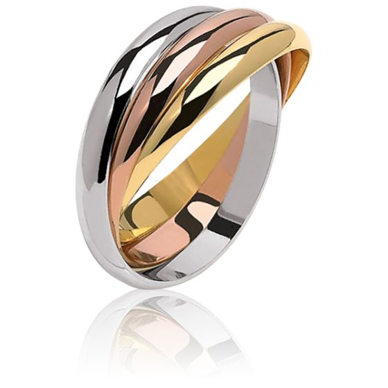 Bague Trianon 2 mm 3 Ors