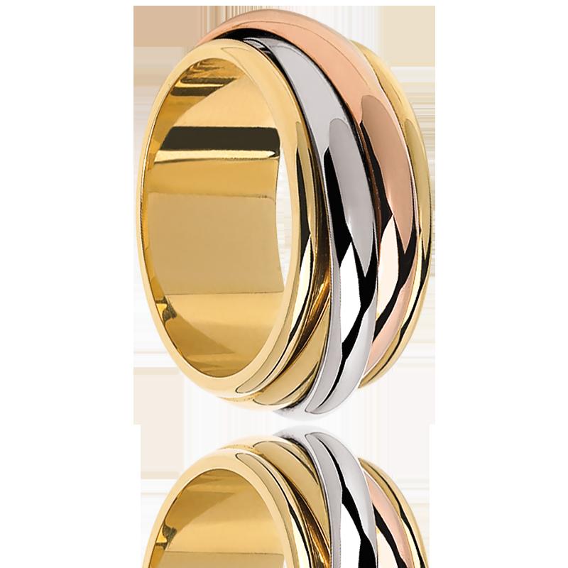Connu Bague 3 Ors, Anneau en Or jaune, blanc & rose - Ocarat TI69