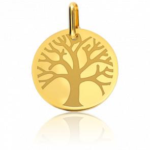 Médaille Arbre de Vie S'Epanouissant Or Jaune 9K