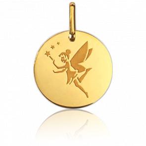 Médaille Fée Aux Etoiles Or Jaune 9K