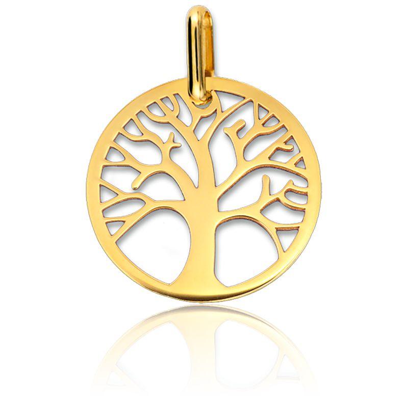Médaille Arbre de Vie Ajourée Or Jaune 18K