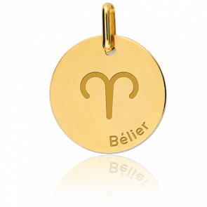 Médaille Zodiaque Bélier Or Jaune 18K