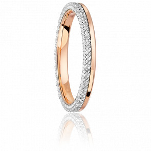 Alliance Ruban Diamanté Or Rose 18K & Platine