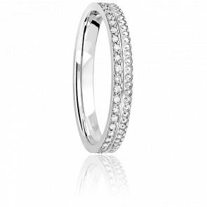 Alliance Tour Complet Diamants & Or Blanc 18K